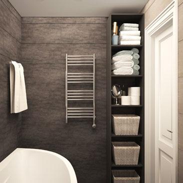 Интерьер ванной комнаты — проект дизайнера.