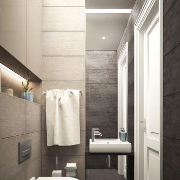 Дизайн-проект ванной комнаты: интерьер, раскладка плитки, визуализация.