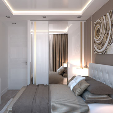 Интерьеры квартир, проекты спален.