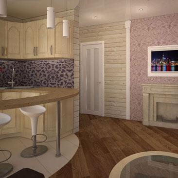 Дизайн гостиной Клайпеда. Лиловый цвет в интерьере гостиной ар-деко. Деревянные стены в интерьере гостиной в стиле ар-деко. Дизайн интерьера заказать в Московской области и Подмосковье у дизайнера из Москвы. Кухня-гостиная в загородном доме - уют и свет. Кухня-гостиная-столовая - оригинальность используемых материалов. Кухня-гостиная-столовая в едином пространстве.