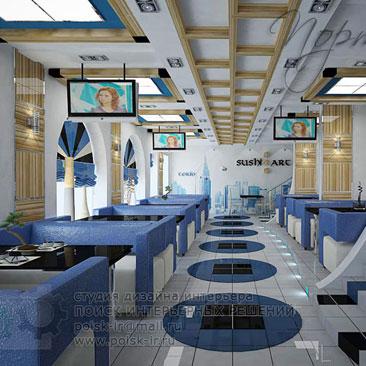 Интерьер и дизайн ресторанов, баров, клубов, кафе - фотогалерея. Японский ресторан Москва дизайн интерьера.