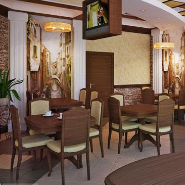Проекты дизайна интерьеров маленьких кафе и больших ресторанов - фото и идеи - дизайн ресторана Челябинск