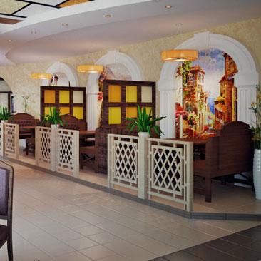 Проекты дизайна интерьеров маленьких кафе и больших ресторанов - фото и идеи. Дизайн кафе Омск