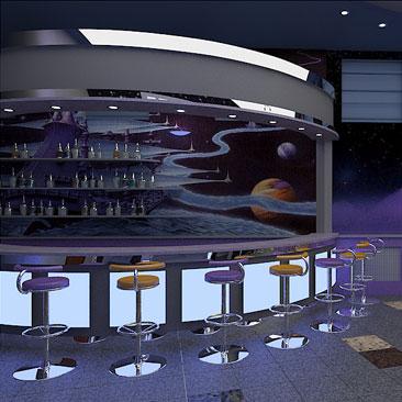 Интерьер и дизайн закусочных, суши-баров, пиццерий, бистро - фотогалерея. Дизайн ночного клуба Москва.