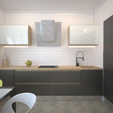Интерьеры кухонь с бежевым полом фото