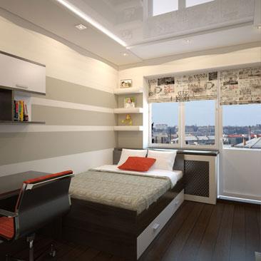 Подростковая комната с фотообоми, римскими шторами 1,5 спальной кроватью и фотообоями. Подростковые комнаты со стенами под покраску - фотогалерея. Комната мальчика-подростка - 1000 фото интерьеров с креативными уникальными идеями. Дизайн интерьера Страсбург. Дизайн подростковой с широкими полосами на стене. Дизайн подростковой для юноши с большой кроватью.