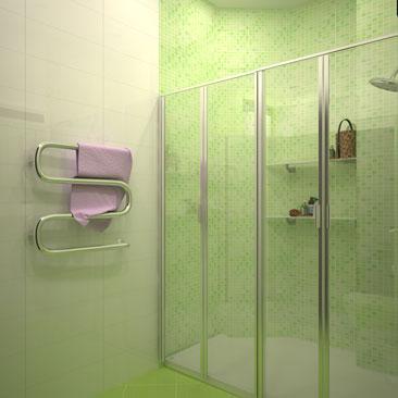 Разные варианты раскладки плитки в ванной - фотогалерея проектов ванных, душевых и туалетных комнат.