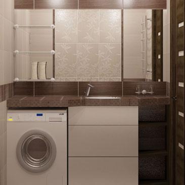 Ванная с коричневой плиткой с белыми швами. Дизайн ванной с тёмной плиткой и белой затиркой швов - фото интерьеров. Дизайн интерьера Талас.