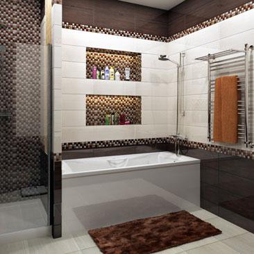 Дизайн ванной комнаты с самодельной душевой кабиной - фотогалерея ремонтов. Самодельная душ в ванной - фото красивых интерьеров со вкусом. Самодельная душевая кабина в интерьере ванной, оформленной со вкусом - фото интерьеров. Дизайн интерьера Квебек.