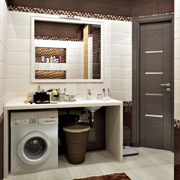 Дизайн ванной комнаты 6 кв.м фото с душевой кабиной. Дизайн ванной с самодельной душевой кабиной. Дизайн ванной с машинкой под раковиной. Интерьерное решение ванной комнаты, когда стиральная машина под раковиной - фото интерьеров. Дизайн интерьера Гамильтон.