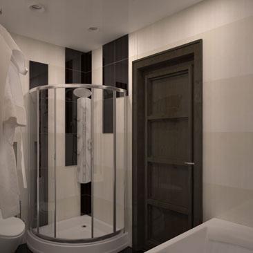 Ванные комнаты с вертикально уложенной крупноформатной плиткой - фото интерьеров. Дизайн ванной комнаты с вертикальной укладкой плитки - фото интерьеров. Дизайн интерьера Калгари. Дизайнеры интерьеров в Калгари.