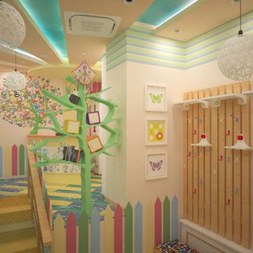 Визуализация дизайн-проекта семейного клуба. Дизайн интерьера детсада в Ульяновске. Дизайн интерьера детского центра творчества Ульяновск. Дизайн интерьера яслей-сада.