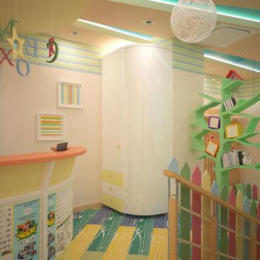 Дизайн мебели на заказ для детского сада - фото в интерьерах. Зона ресепшн в детском центре - примеры интерьеров с дизайном. Центр развития ребёнка - детский сад, фото интерьеров. Дизайн-проект оформления детского сада Сочи. Дизайн детского центра в Сочи.