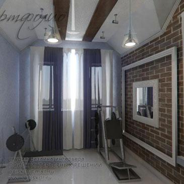 Дизайн тренажерного зала в частном доме
