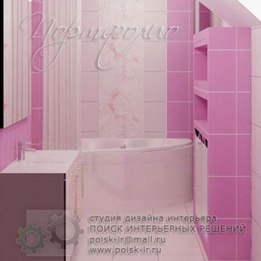 Дизайн интерьера ванной комнаты и санузла. Фото дизайна интерьера ванных комнат и туалетов.