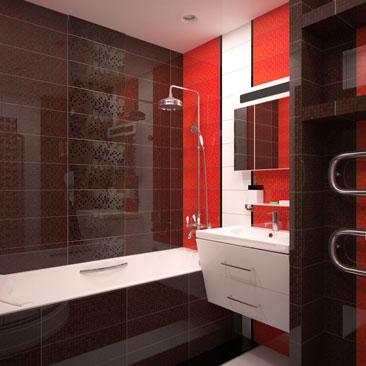 Варианты раскладки напольной и настенной плитки в ванной комнате и санузлах.