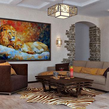 Африканский стиль в квартире - квартира в африканском стиле фото. Дизайн интерьера г. Егорьевск Московской области.