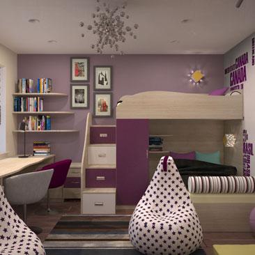 Дизайн детской для двоих мальчиков в фиолетовом цвете фото. Дизайн мальчишеской детской для двоих с фиолетовыми оттенками в интерьере. Дизайн фиолетовой детской для 2 мальчиков фото. Дизайн интерьера г. Невинномысск Ставропольский край