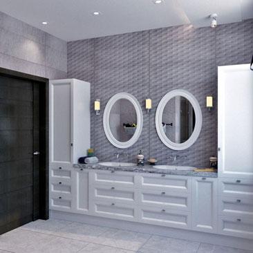 Раскладка плитки в ванной: более 1000 фото интерьеров.