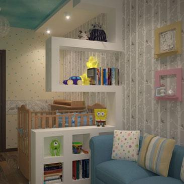 Дизайн интерьера детской комнаты - идеи и фотографии.