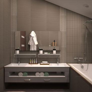 Дизайн ванных комнат и санузлов - фото портфолио дизайн-студии Поиск Интерьерных Решений.