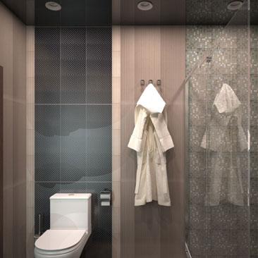 Интерьеры ванной комнаты и туалета - фото дизайна и проектов.