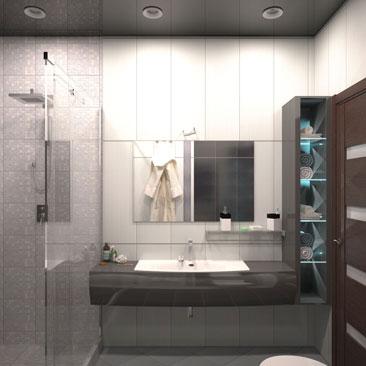 Фото дизайна ванных комнат. Дизайн интерьера туалетных и душевых комнат.