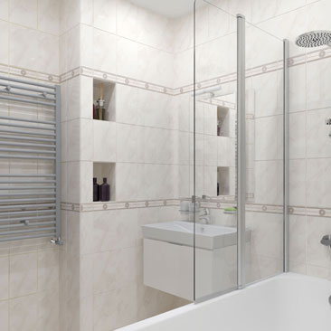 Интерьер и дизайн ванных комнат.