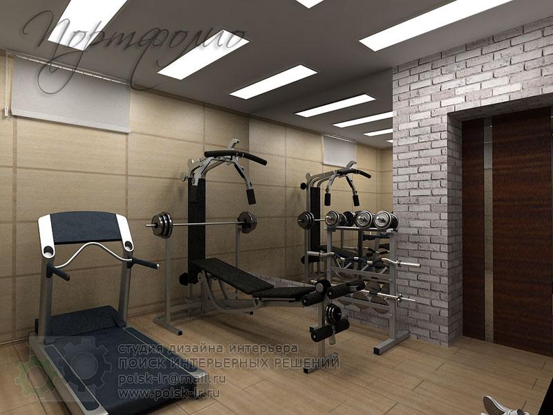 Спортивный интерьер комнаты