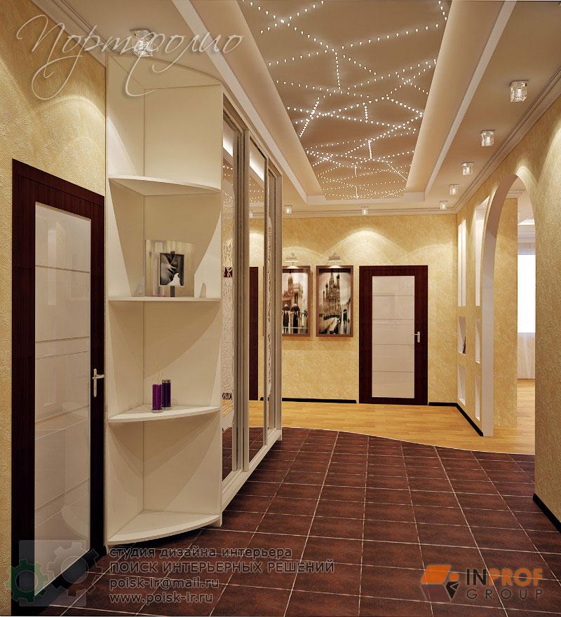 Дизайн холла в частном доме потолок