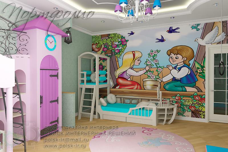 Дизайн интерьера детской фотообои