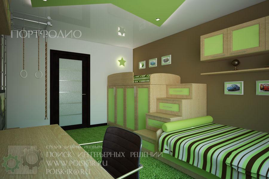 Дизайн спальня детская в одной комнате