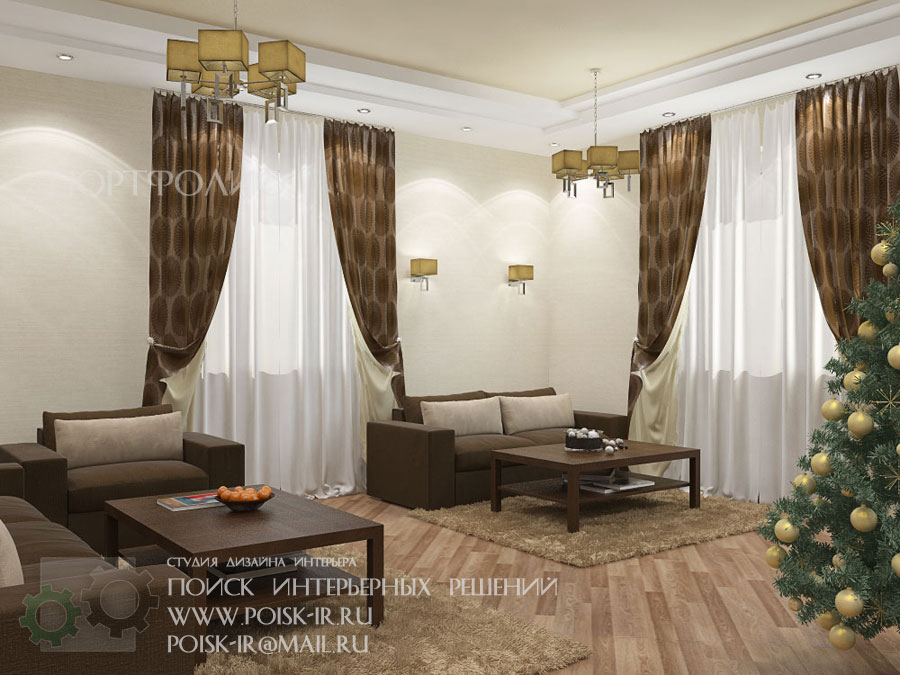 Комната с двумя окнами на разных стенах
